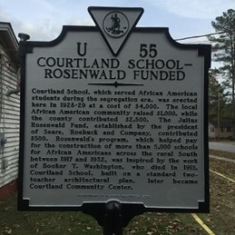 Courtland School Rosenwald Funded