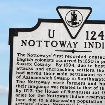 Franklin Southampton Tourism Nottoway Indians Sign