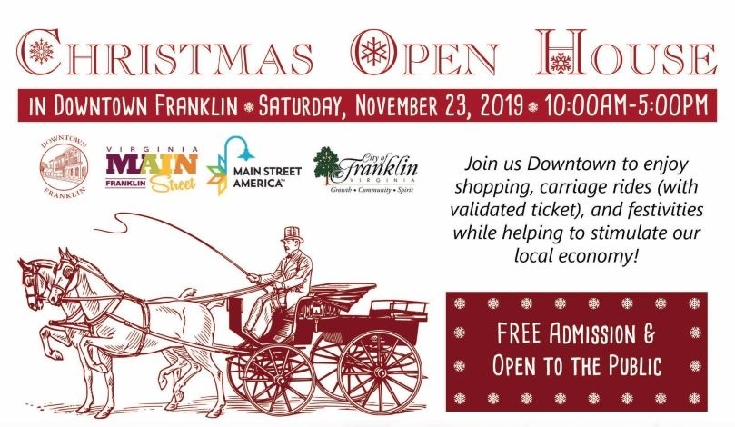 Downtown Christmas Open House & Carriage Rides